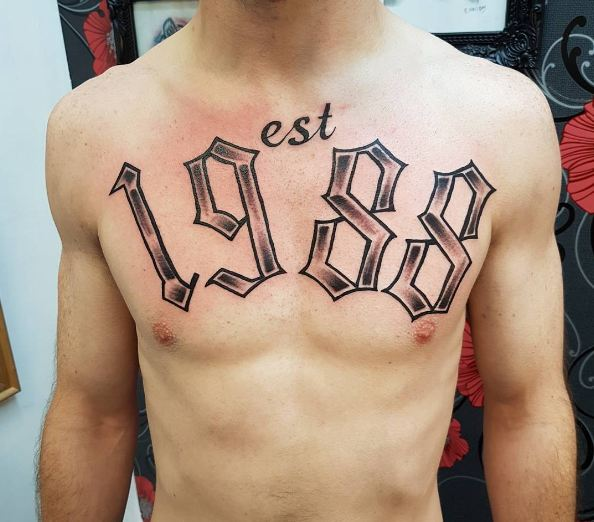 Date Tattoos For Men