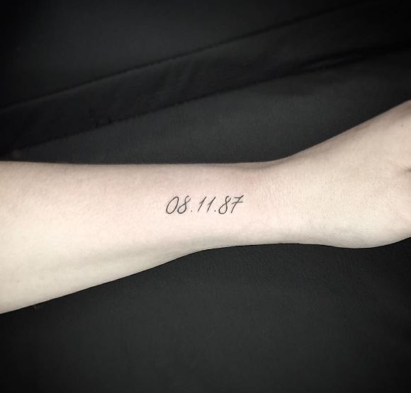 Date Tattoos On Wrist