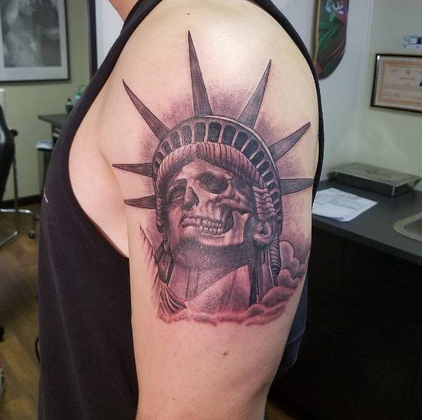 Double Exposure Quarter Sleeve Tattoos