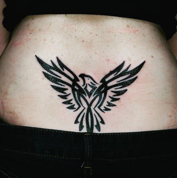 Eagle Lower Back Tattoos