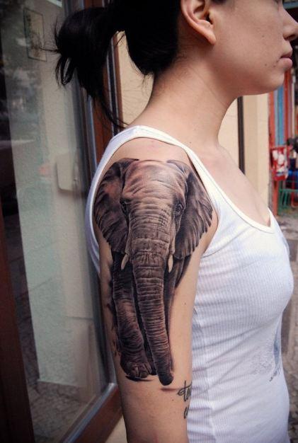 Elephant Sleeve Tattoos