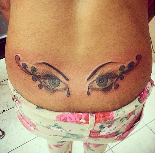 Eyes Lower Back Tattoos