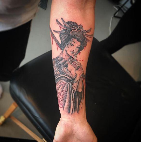Fabulous Geisha Tattoos