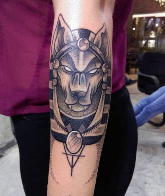 Female Anubis Tattoo