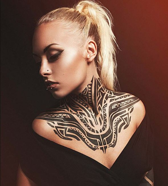 Female Neck Tattoos Quotes