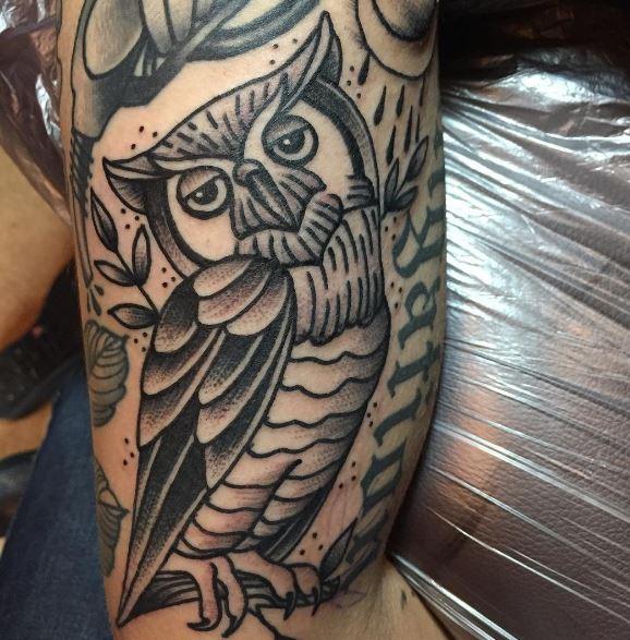 Feminine Owl Tattoos