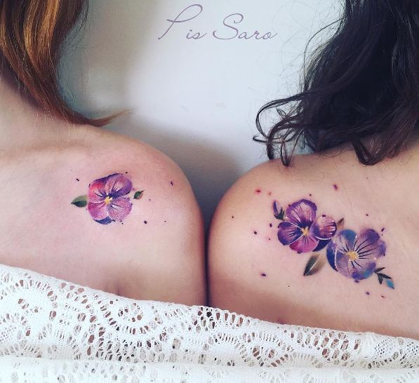 Flower Couple Tattoos