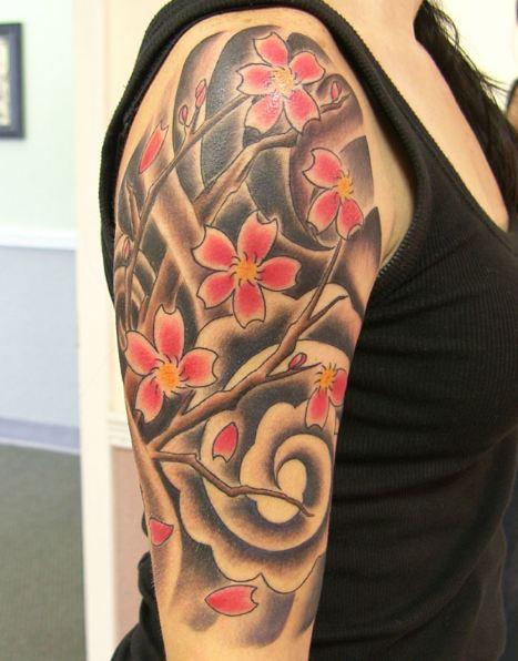 Flower Sleeve Tattoos 1