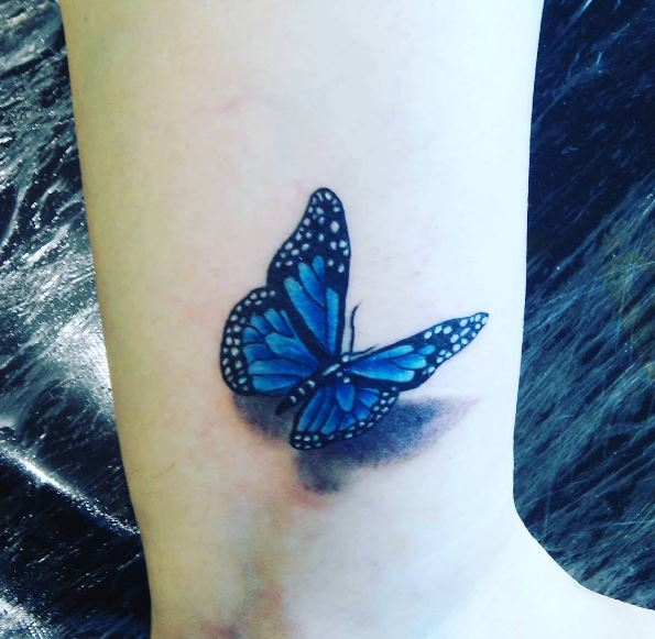 Flying Butterfly Tattoos