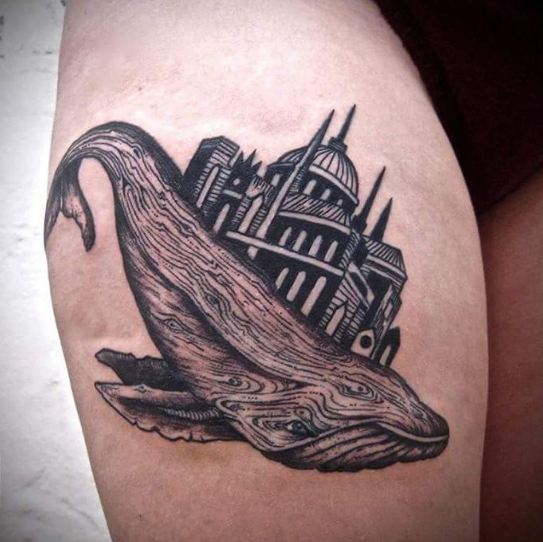 Flying Whale Tattoos