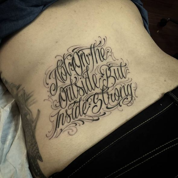 Font Lower Back Tattoos