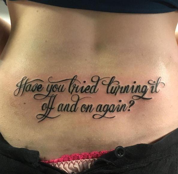 Friend Lower Back Tattoos