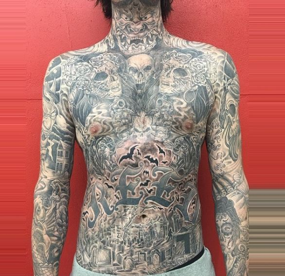 Full Body And Chest Tattoos