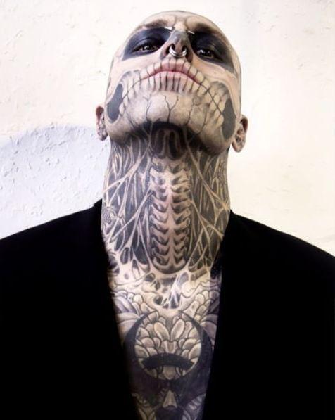 Full Body Neck Tattoos