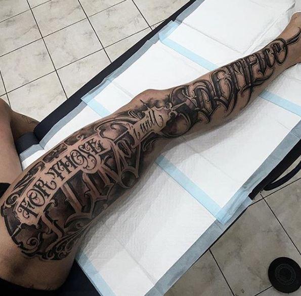 Full Leg Tattoos For Women