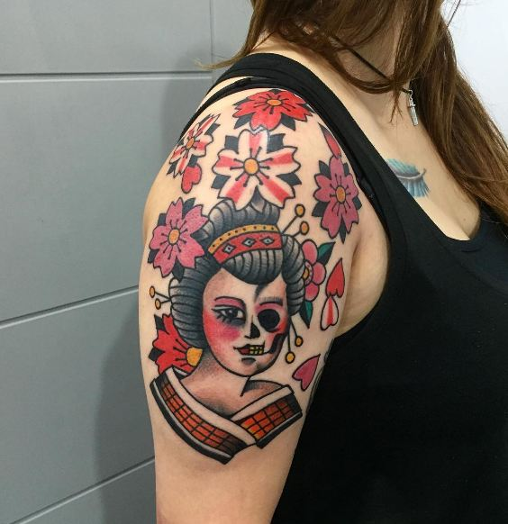 Geisha Angel Tattoos
