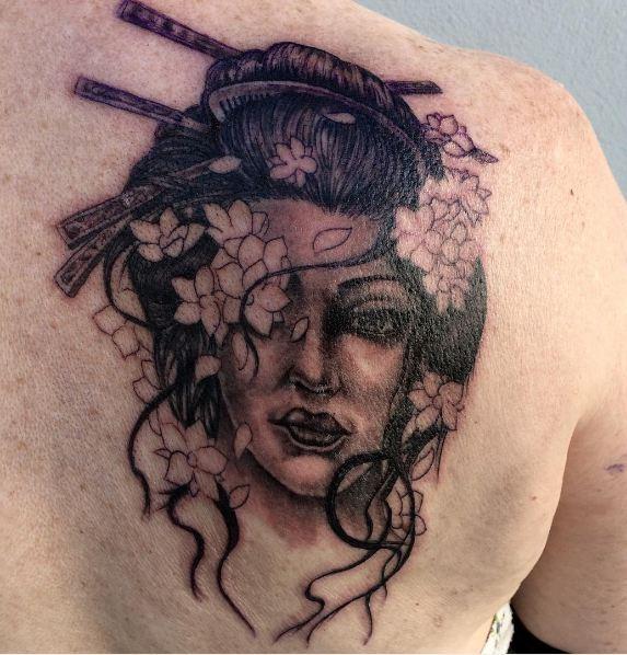 Geisha Girl Tattoos Designs