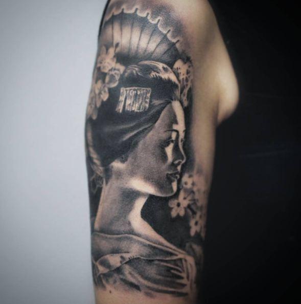 Geisha Tattoo Background