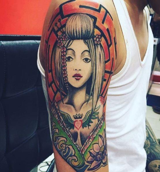 Geisha Tattoos For Men