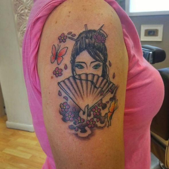 Geisha Tattoos Ideas For Girls
