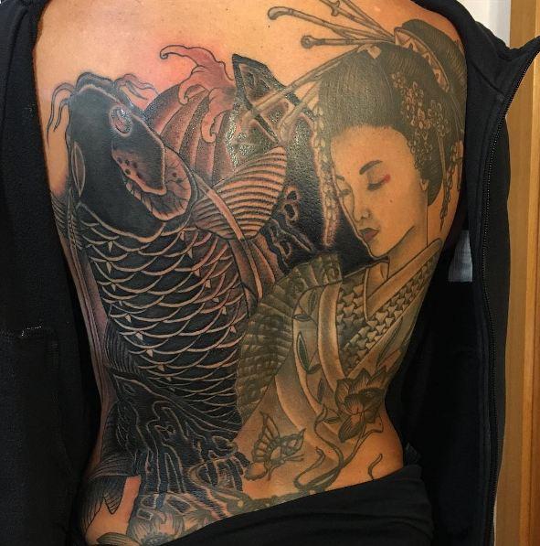 Geisha Tattoos On Back