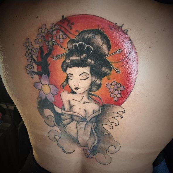 Geisha Tattoos On Full Back