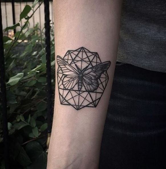 Geometric Butterfly Tattoos 1