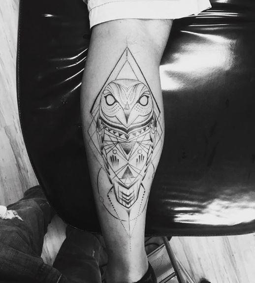 Geometric Owl Tattoos