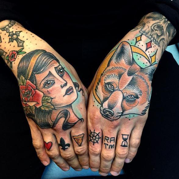 Girl Hand Tattoos