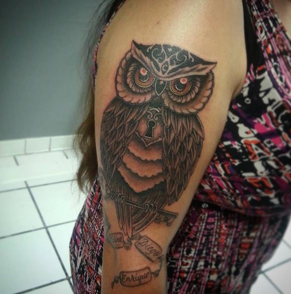 Girl Owl Tattoos