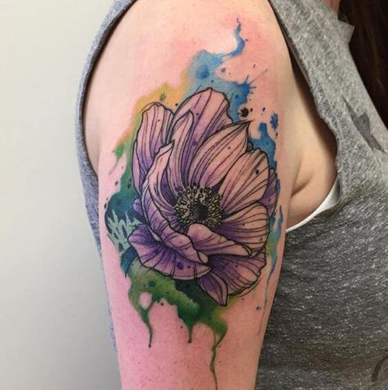 Gorgeous Watercolor Lily Tattoos