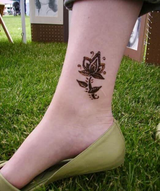 Henna Ankle Tattoos