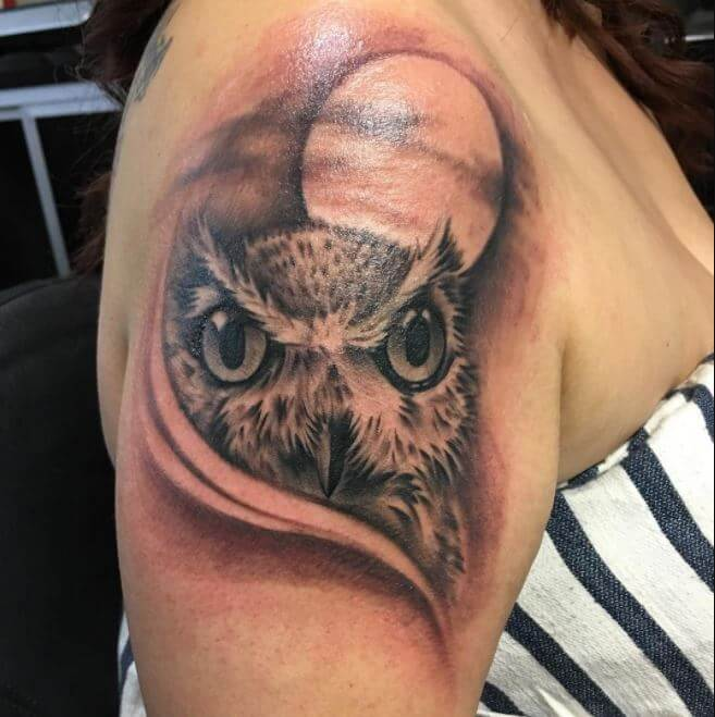 Horned Owl Tattoo