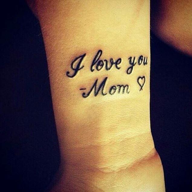 I Love Mom Tattoos