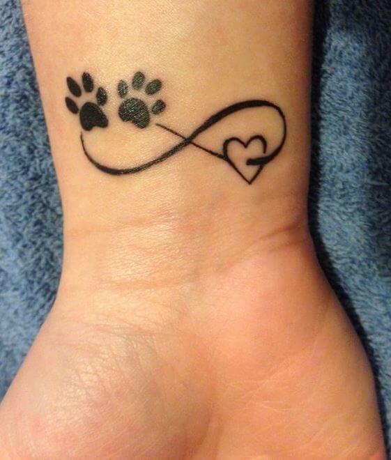 Infinity Paw Print Tattoo