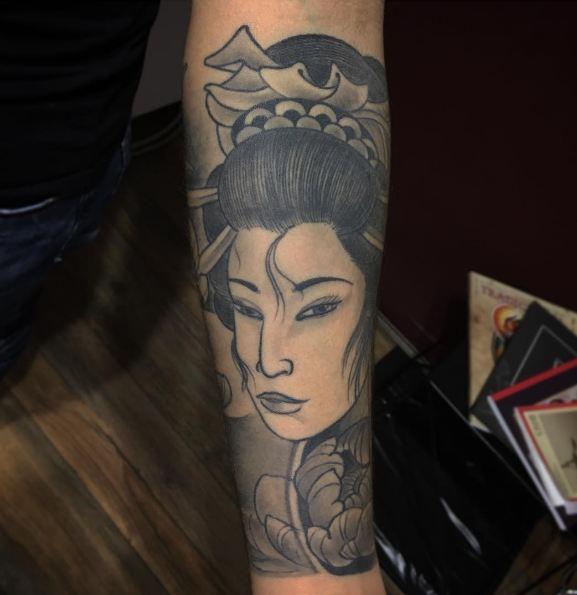 Japanese Geisha Art Tattoos