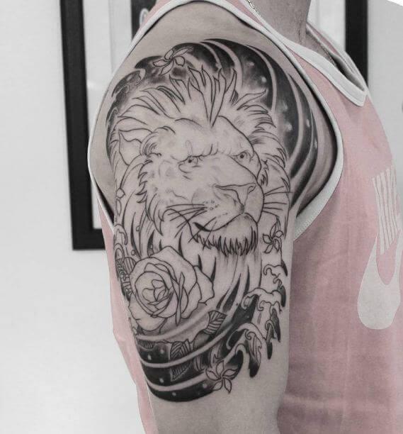 Japanese Lion Tattoos