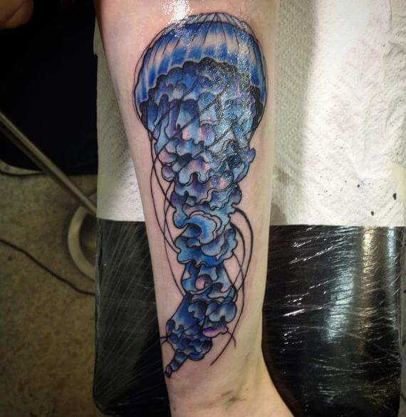 Jellyfish Tattoo Stencil