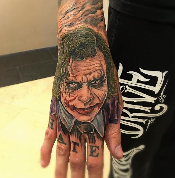 Joker Hand Tattoos