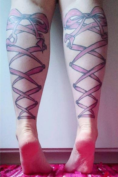 Lace Leg Tattoos
