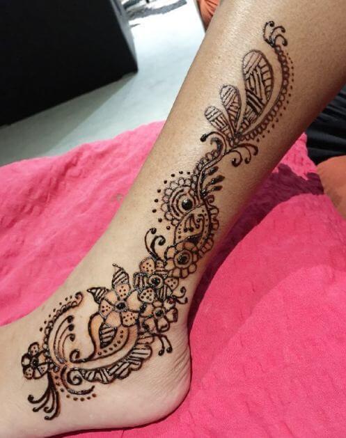 Leg Henna Tattoo