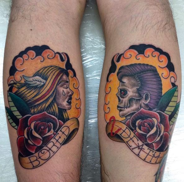 Leg Tattoos For Couples