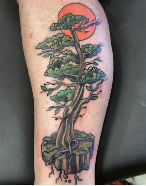 Leg Tree Tattoos