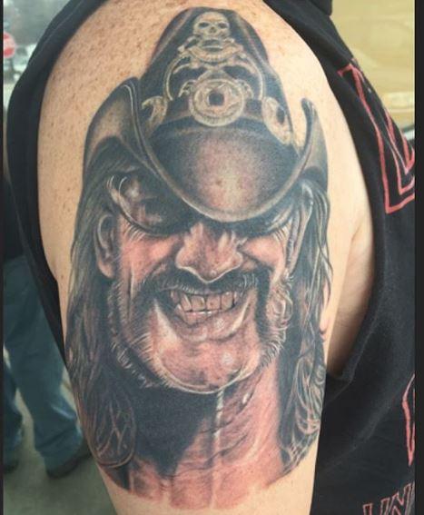 Legend Lemmy Tattoos Design On Shoulder