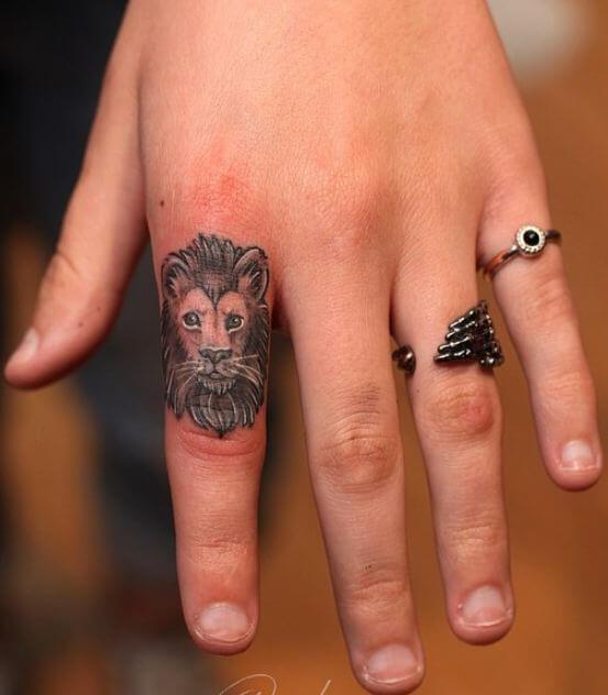 Lion Finger Tattoos