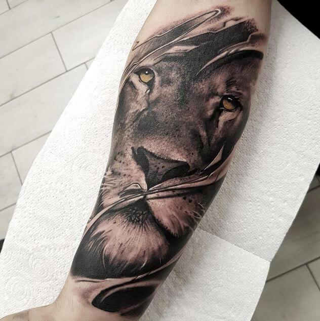 Lion Forearm Tattoos