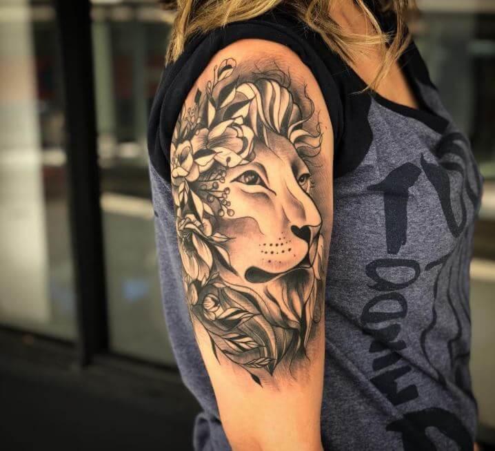 Lion Half Sleeve Tattoo