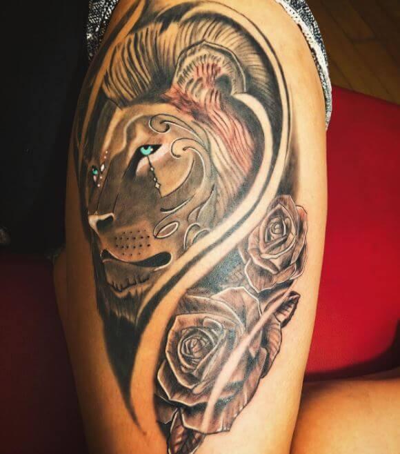 Lion Head Tattoo Designs