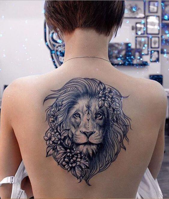 Lion Neck Tattoo