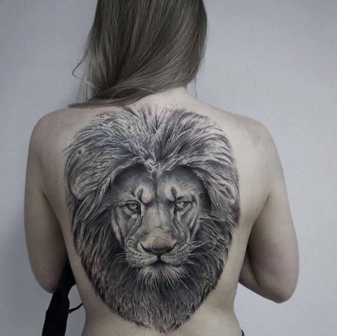 Lion Tattoo Back